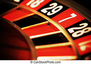 Casino roulette, seven - Close up view of the roulette whill...