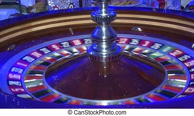 Casino roulette spins, the ball in the game, roulette...