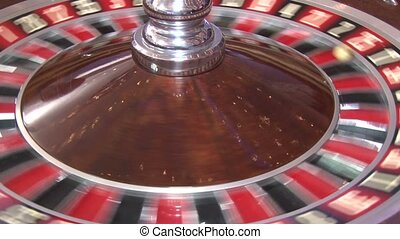 Casino roulette spins, the ball in the game, roulette spinning wheel