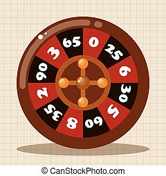 casino roulette theme elements