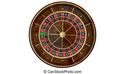 Casino roulette wheel. Animated mask added - Casino roulette...