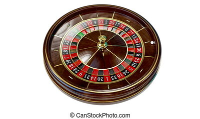 Casino roulette wheel. - Casino roulette wheel on white. 3D ...