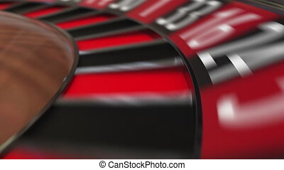 Casino roulette wheel hits zero