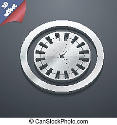 casino roulette wheel icon symbol. 3D style. Trendy, modern design with space for your text Vector