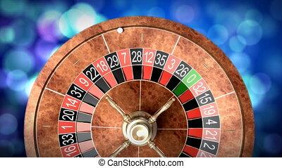 Casino roulette wheel