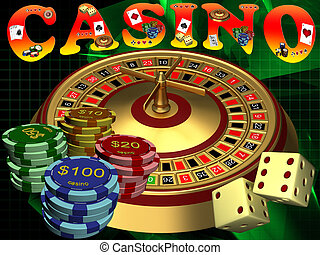 Casino - Roulette with the casino chips