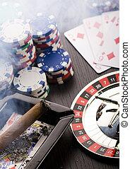 casino, -, ruleta, y, pedacitos