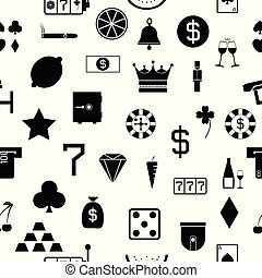 casino seamless pattern background icon.