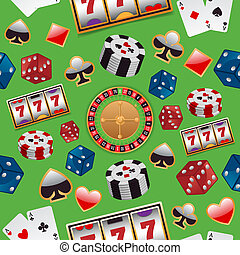 Casino seamless pattern