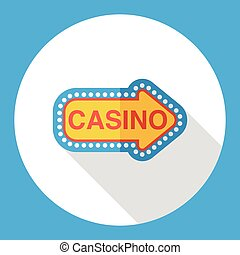 casino sign flat icon