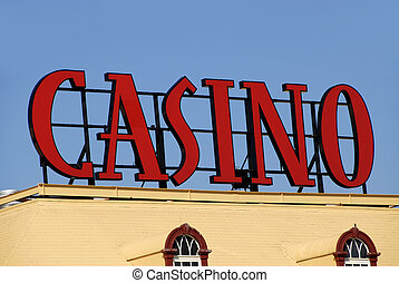 Casino Sign on top of Gambling Hall