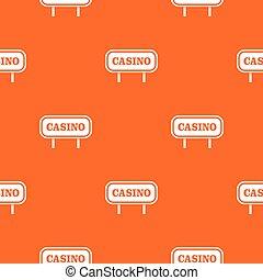 Casino sign pattern seamless