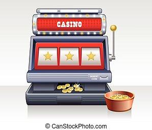Casino slot machine illustration