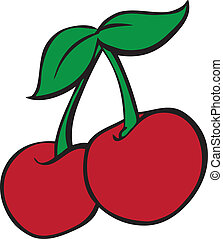 Vector Illustration of Cherries done in the style of gambling slot machines like you would find in a Casino in Vegas.