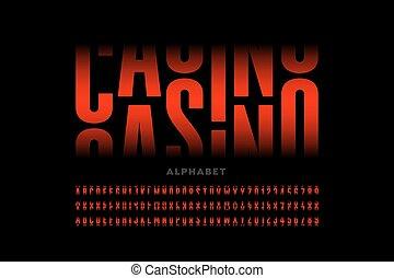 Casino slot machine style font