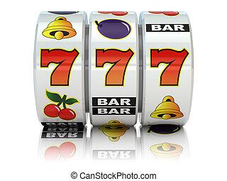 Casino. Slot machine with jackpot. - Casino. Slot machine...