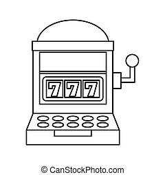 Casino slots machine icon