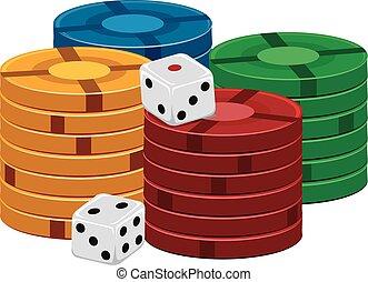 casino spaanders, dobbelsteen