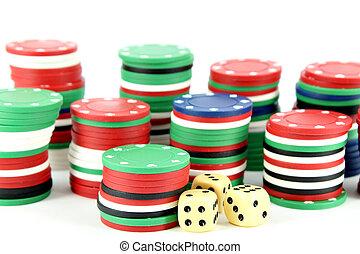 casino spaanders, dobbelstenen