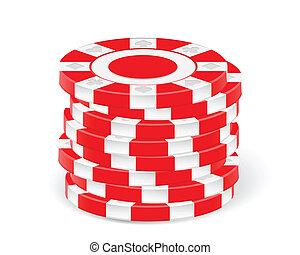 casino spaanders, rood