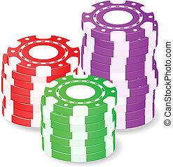 casino spaanders, stapel