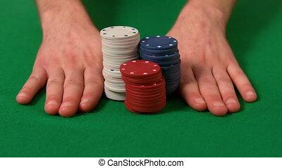 casino spaanders, voortvarend, man