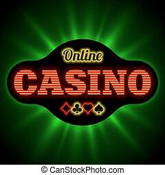 casino, spandoek, online