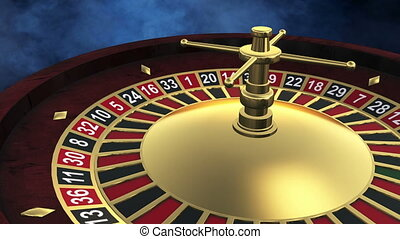 Casino spinning roulette