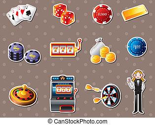 casino, stickers