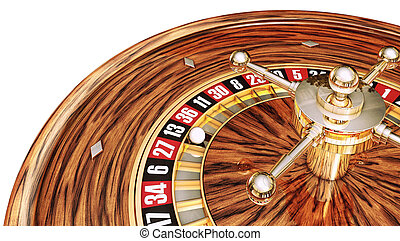 casino - 3D rendering of a roulette