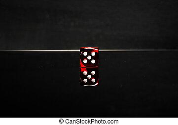 casino, tema, con, ambiente, luz