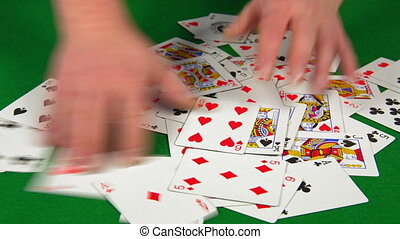 casino, the dealer interferes with playing cards