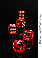 casino, thema, met, donkere achtergrond