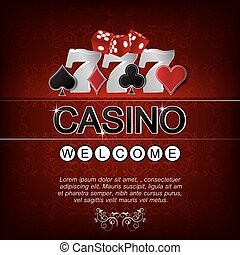 Casino vector background