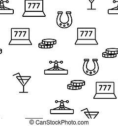 Casino Vector Seamless Pattern