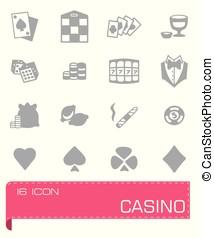 casino, vector, set, pictogram