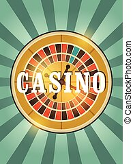 Casino vintage style poster.