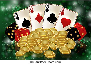 Casino vip background with poker cards, vector illustration
