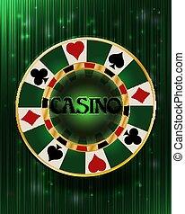 Casino vip poker chip background, vector illustration