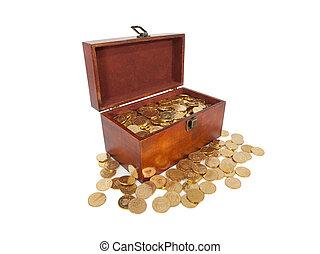 Casket of gold coins
