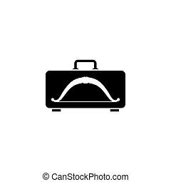 caso, appartamento, vettore, icona, arco