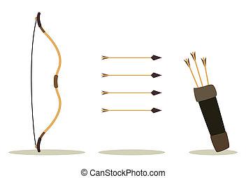 caso, arco, flecha