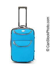 caso, bianco, concetto, bagaglio