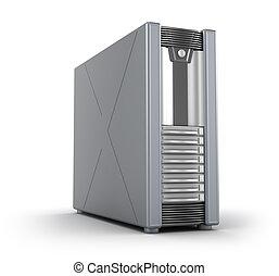 caso, bianco, server