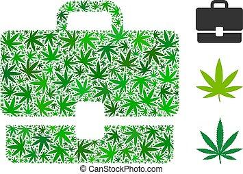 caso, composición, cannabis