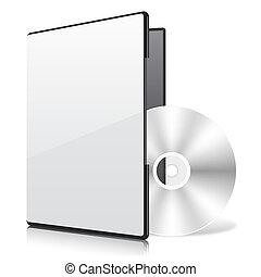 caso, disco, em branco