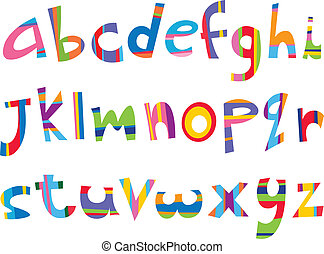 caso, divertimento, abaixar, alfabeto