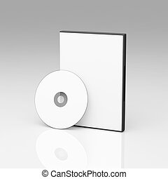 caso, dvd, blanco