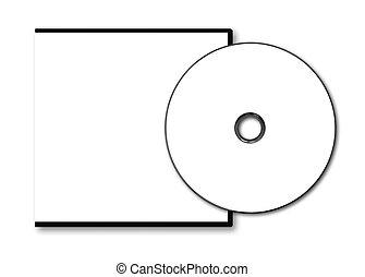 caso, dvd, blanco, disco, blanco