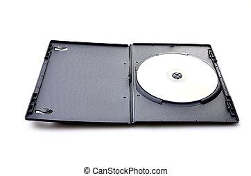 caso, dvd, negro